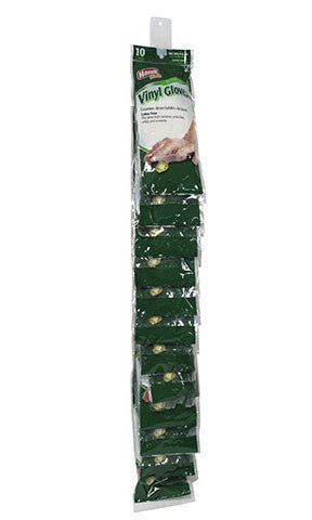 "Handi-Works™ 10 count Disposable Vinyl ""Latex Free"" Clip Strip"