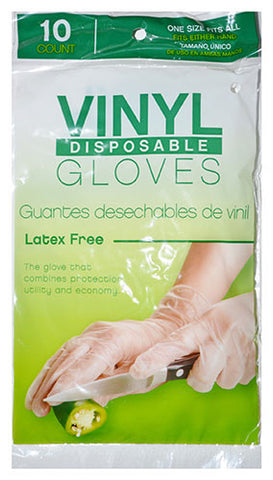 "GSI 10 count Disposable Vinyl ""Latex Free"""
