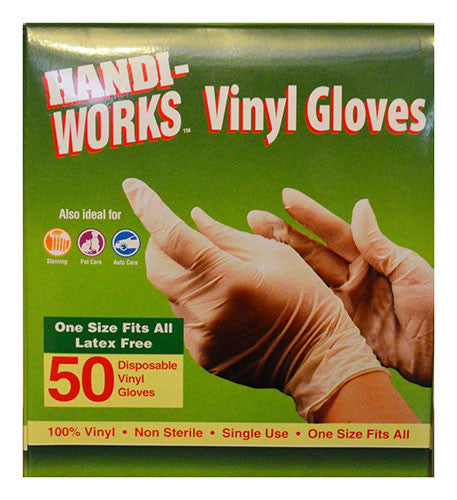 "Handi-Works™ 50 count Disposable Vinyl ""Latex Free"""
