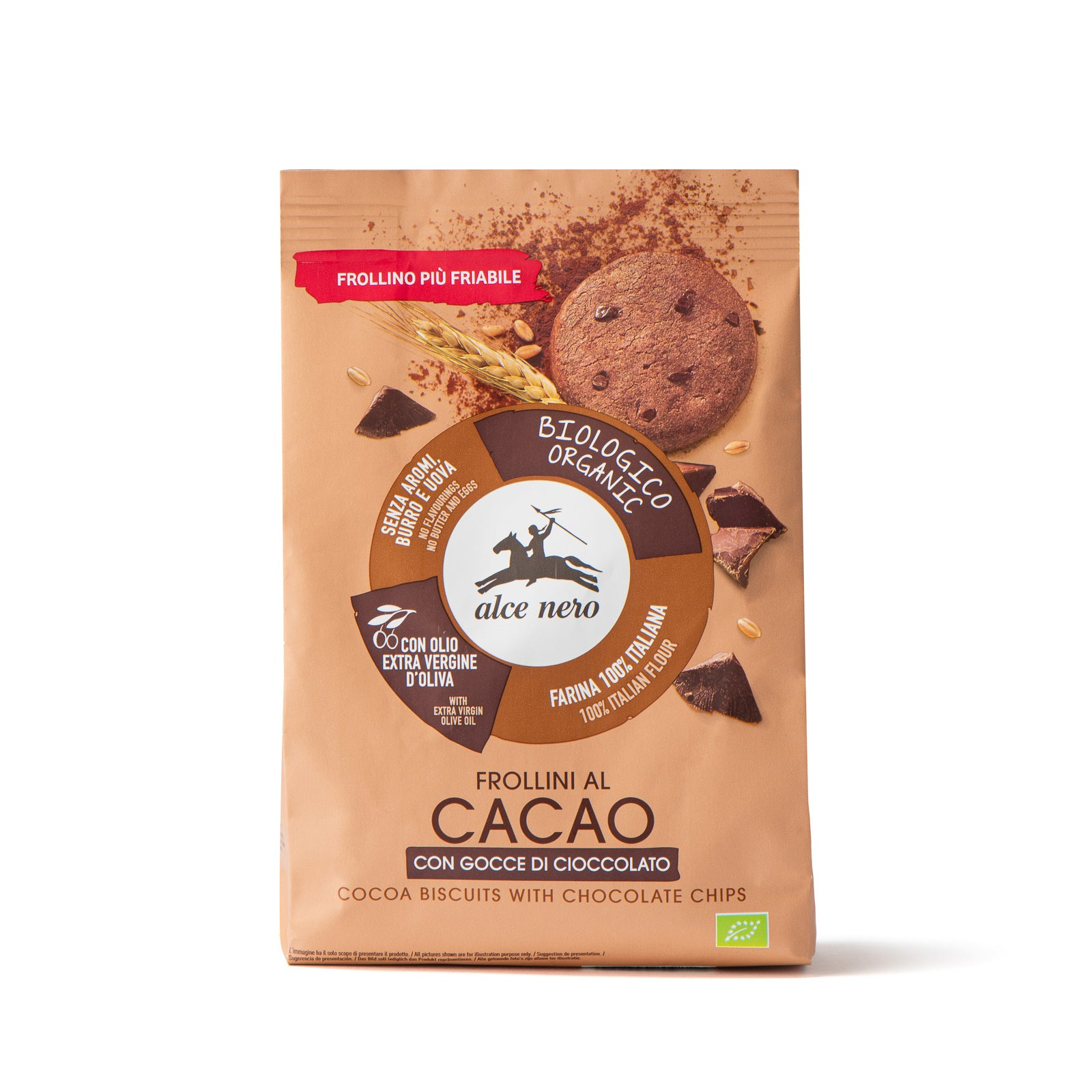 Galletas de cacao con pepitas de chocolate ecológicas - FR949