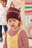 """Spring Beanie"" Maroon Speckled"