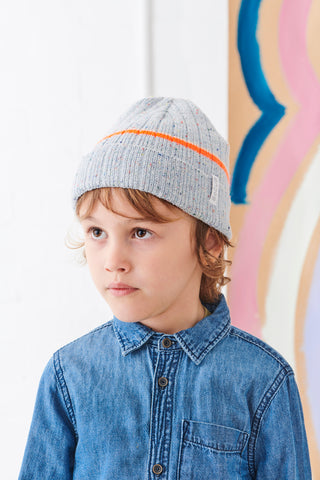 """Spring Beanie"" Grey Speckled"