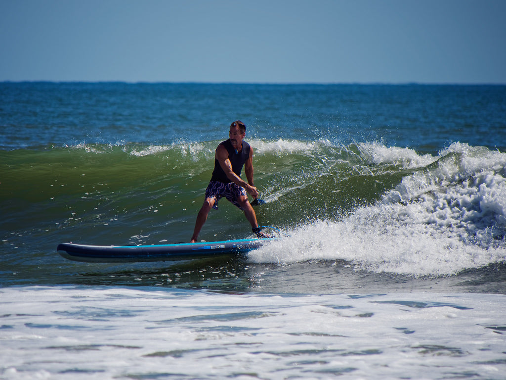 Surfing an Inflatable SUP