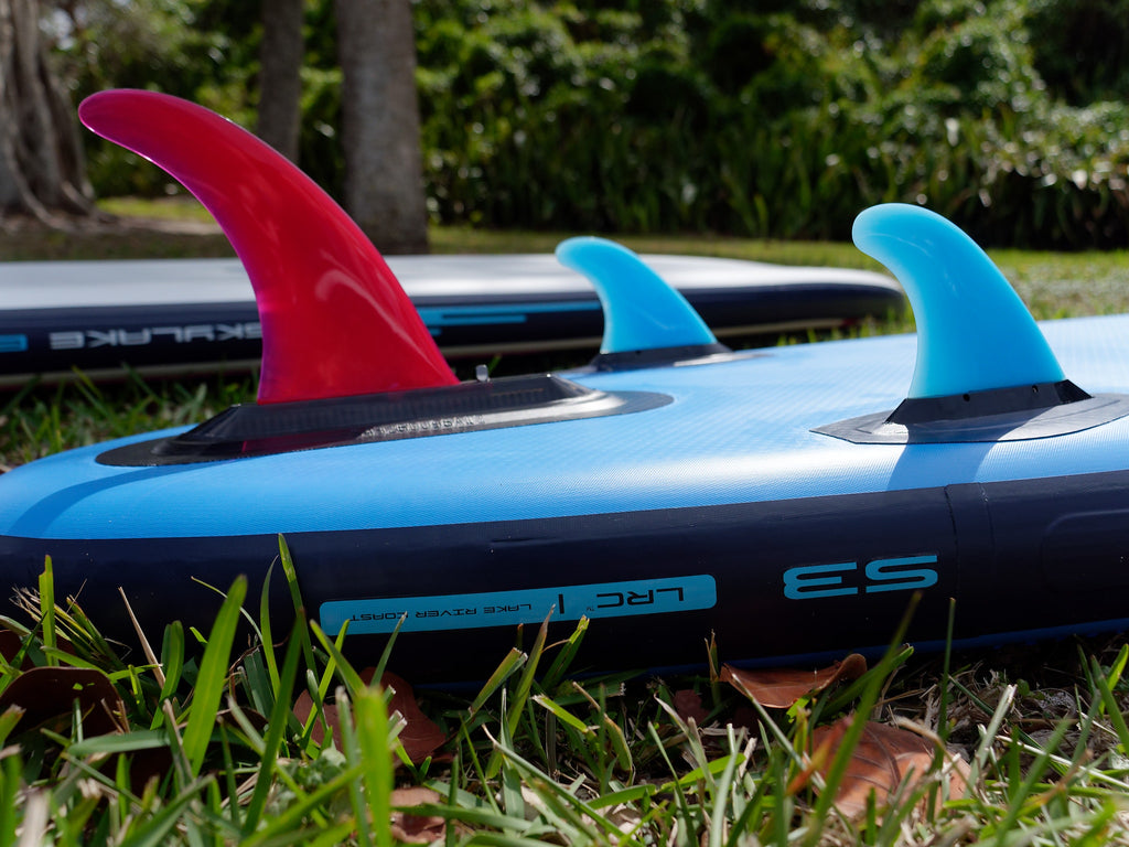 Fin Setup of performance paddle board