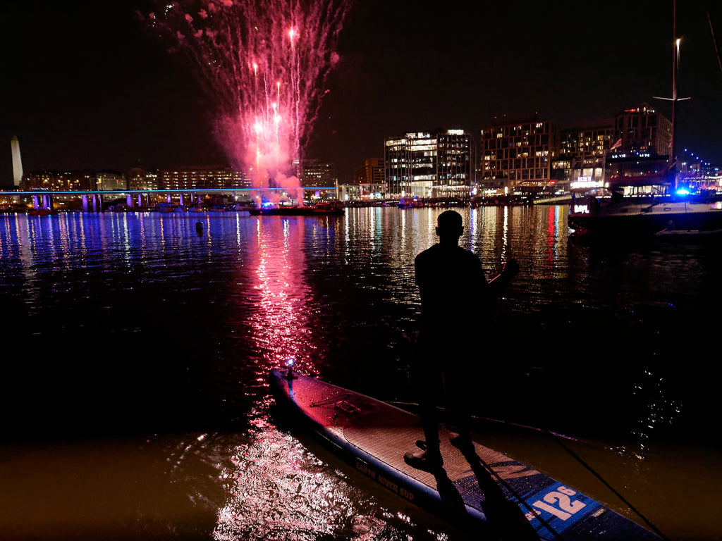 Touring distance SUP board fireworks