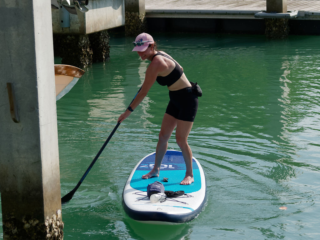 Paddling with an X bungee system