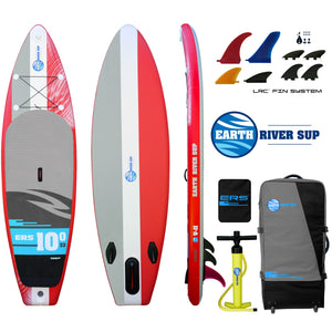"Earth River SUP 10-0 V-II Inflatable Paddle Board 2018 (10'0""x33""x6"") RED"