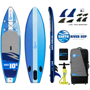 "Earth River SUP 10-0 V-II Inflatable Paddle Board 2018 (10'0""x33""x6"") BLUE"