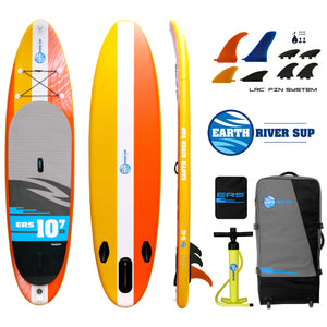 "Earth River SUP 10-7 V-II LTD Inflatable Paddle Board 2018 (10'7""x32""x5"") YELLOW"