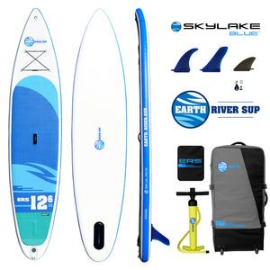 "Earth River SUP 12-6 SKYLAKE BLUE™ Inflatable Paddle Board 2018 (12'6""x32""x6"")"