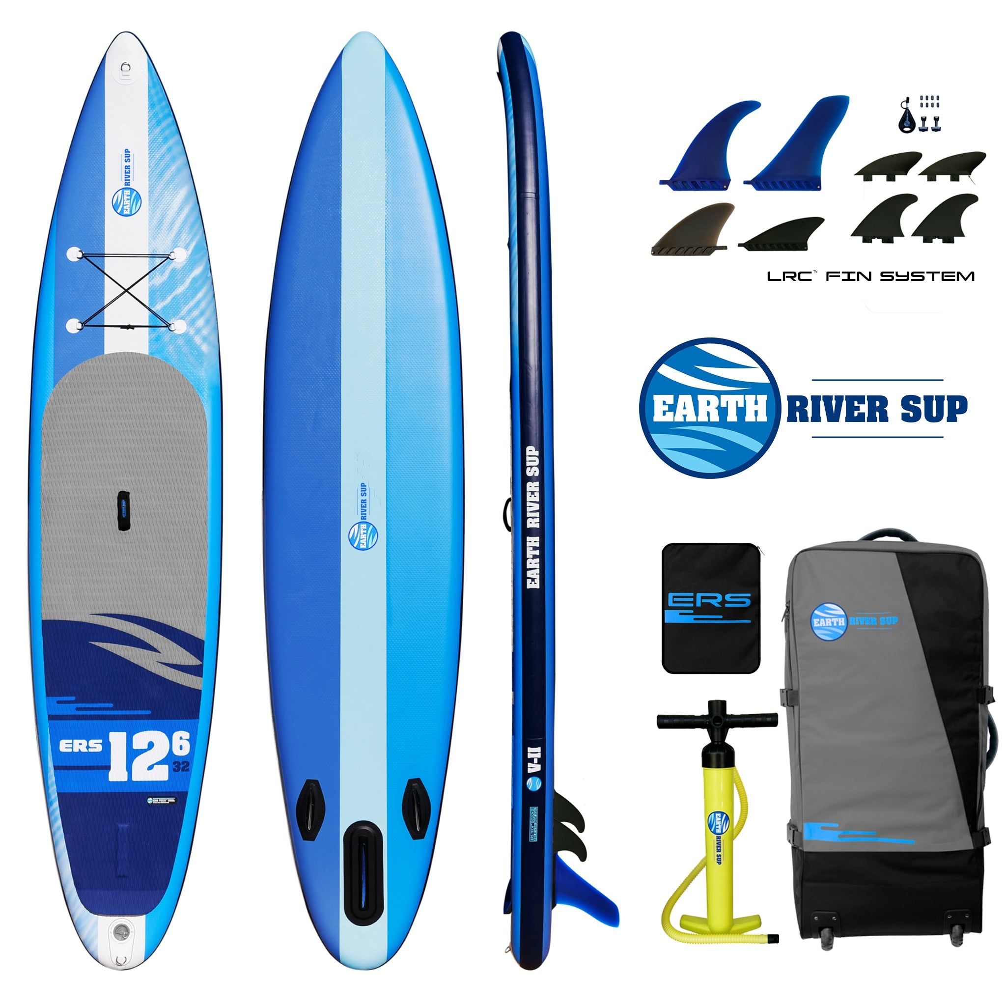 6d14793fbfc2 Earth River SUP 12-6 V-II Inflatable Paddle Board 2018 (12'