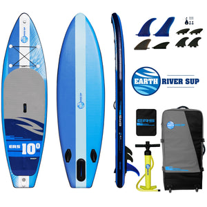 "Earth River SUP 10-0 V3 Inflatable Paddle Board 2019 (10'0""x33""x6"") BLUE"
