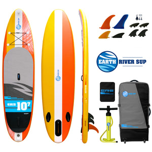 "Earth River SUP 10-7 V3 Inflatable Paddle Board 2019 (10'7""x32""x5"") CLASSIC"