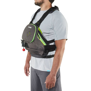 NRS ZEN RESCUE PFD Life Jacket - Charcoal | Lime