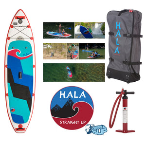 "SALE - HALA CARBON STRAIGHT UP Inflatable SUP 2017 (10'6 x 32"" x 6"")"