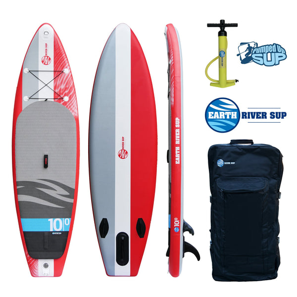 "Earth River SUP 10-0 V-II Inflatable Paddle Board 2017 (10'0""x33""x6"") CODE RED"