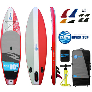 "Earth River SUP 10-0 V3 Inflatable Paddle Board 2019 (10'0""x33""x6"") RED"
