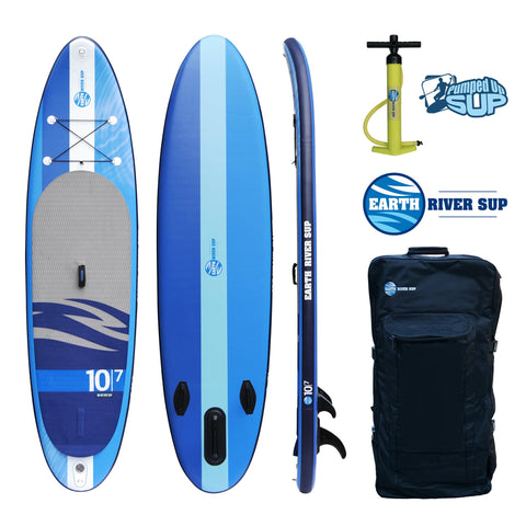"Earth River SUP 10-7 V-II Inflatable Paddle Board 2017 (10'7""x32""x5"")"