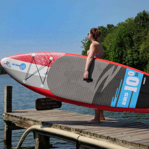 "Earth River SUP 10-0 V3 Inflatable Paddle Board 2019/2020 (10'0""x33""x6"") RED"