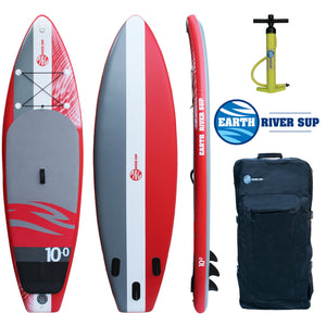 "Earth River SUP 10'0""x33"" Inflatable Stand Up Paddle Board Sky Lake 10-0 (Code Red)"