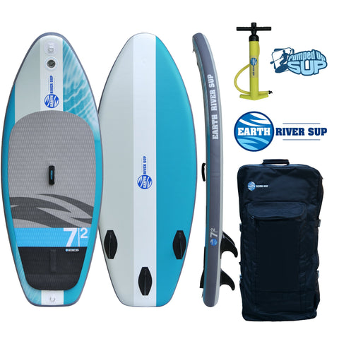 "Earth River SUP 7-2 V-II G-ROCKER Inflatable Paddle Board 2017 (7'2""x33""x5"")"