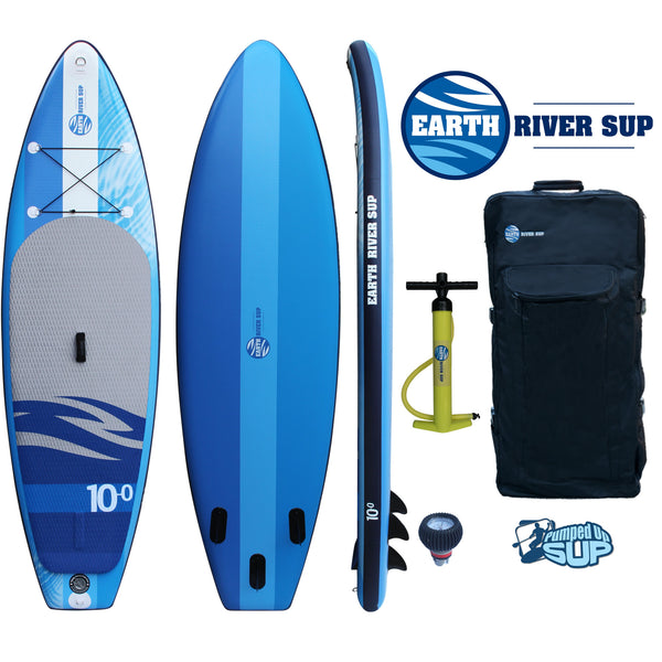 "Earth River SUP 10'0""x33"" Inflatable Stand Up Paddle Board Sky Lake 10-0 (Water Blue)"