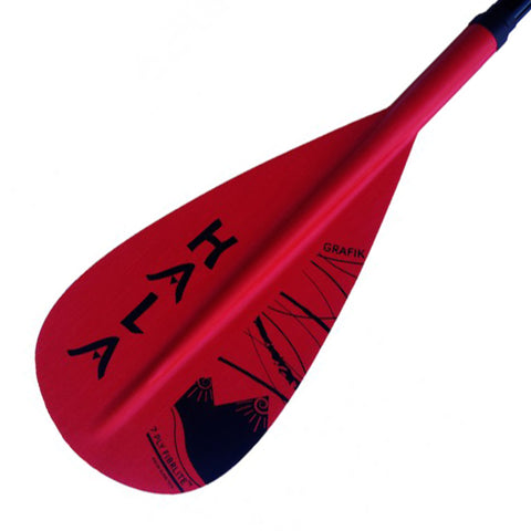 HALA GRAFIK RED Adjustable 3 Piece Travel SUP Paddle with Lever Lock