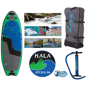 "HALA ATCHA STOMP 86 Inflatable SUP 2017 (8'6"" x 34"" x 6"")"