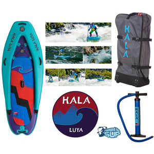 "SALE - HALA LUYA STOMP Inflatable SUP 2017 (8'8"" x 38"" x 6""+3"")"