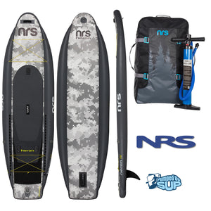 "NRS HERON FISHING 11'0""x39"" Inflatable Stand Up Paddle Board SUP - Camo Edition"