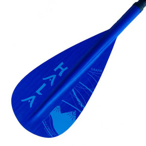 HALA GRAFIK BLUE Adjustable 3 Piece Travel SUP Paddle with Lever Lock