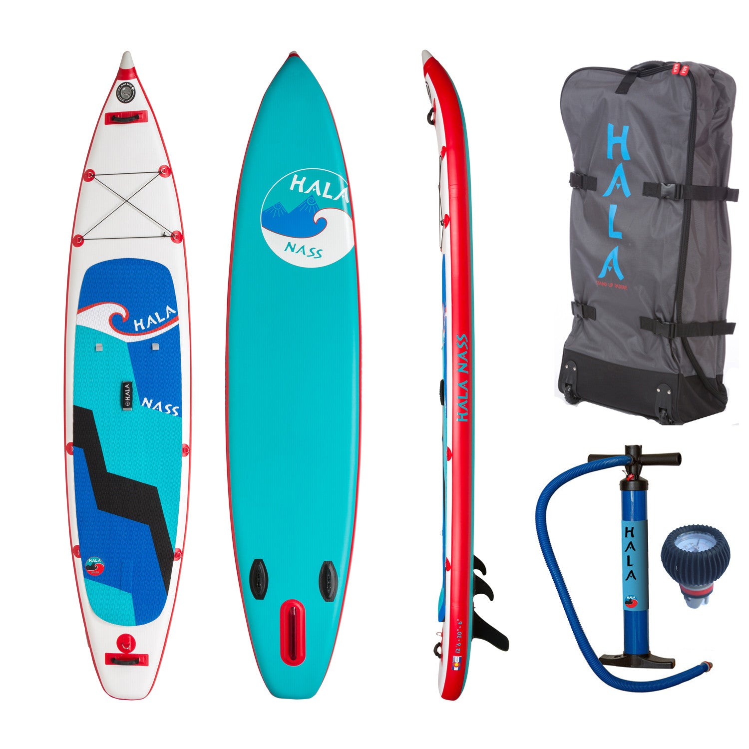 "Hala Nass 12'6""x30"" Inflatable Stand Up Paddle Board"