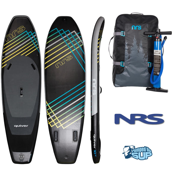 "NRS QUIVER 10'4""x35"" Inflatable Stand Up Paddle Board SUP 2018"