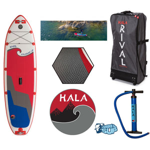 "HALA RIVAL STRAIGHT UP Inflatable SUP (10'0"" x 33"" x 6"")"