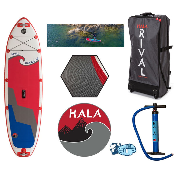 "HALA RIVAL STRAIGHT UP Inflatable SUP 2017 (10'0"" x 33"" x 6"")"