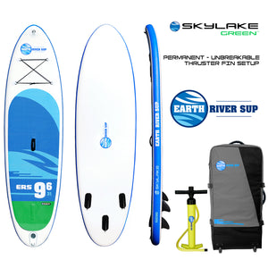 "Earth River SUP 9-6 SKYLAKE GREEN™ Inflatable Paddle Board 2018 (9'6""x31""x5"")"