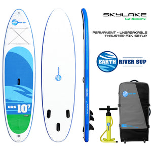 "Earth River SUP 10-7 SKYLAKE GREEN™ Inflatable Paddle Board 2019 (10'7""x32""x5"")"