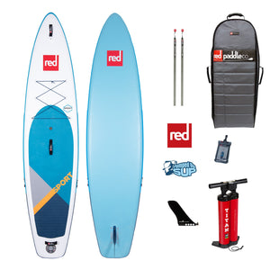 "Red Paddle Co SPORT MSL 11'x30"" Inflatable Stand Up Paddle Board SUP 2020"