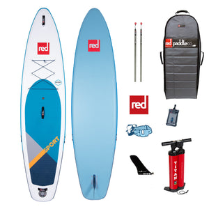 "Red Paddle Co SPORT MSL 11'3""x32"" Inflatable Stand Up Paddle Board 2020"