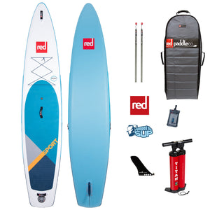 "Red Paddle Co SPORT 12'6""x30"" Inflatable Stand Up Paddle Board SUP 2020"