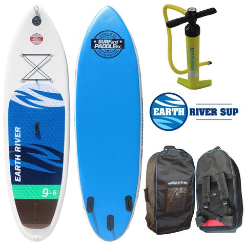 "Earth River SUP 9'6""x31"" Inflatable Stand Up Paddle Board 2016 - RED Badge"