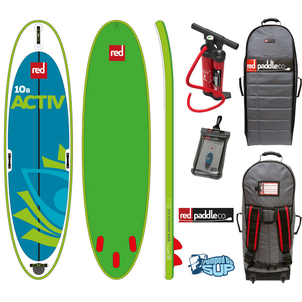"Red Paddle Co ACTIV MSL 10'8""x34"" Inflatable Stand Up Paddle Board SUP 2017"