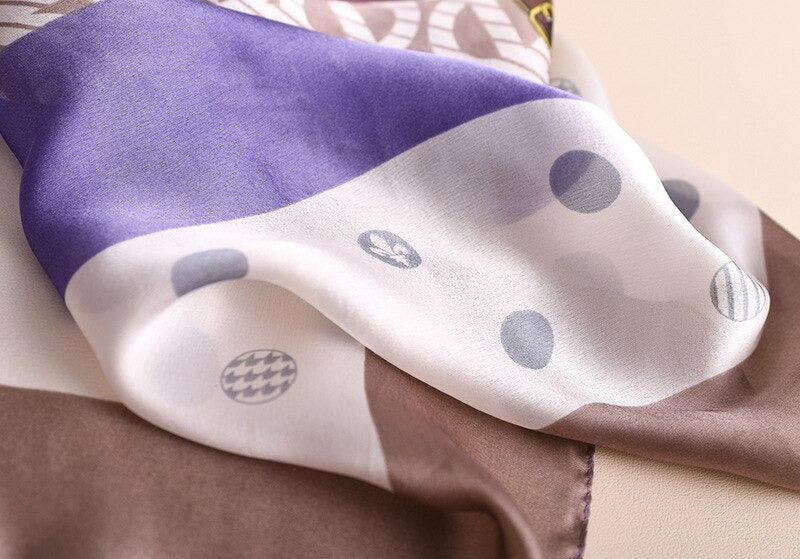2021 Luxury Brand Silk Shawl Wrap Scarf