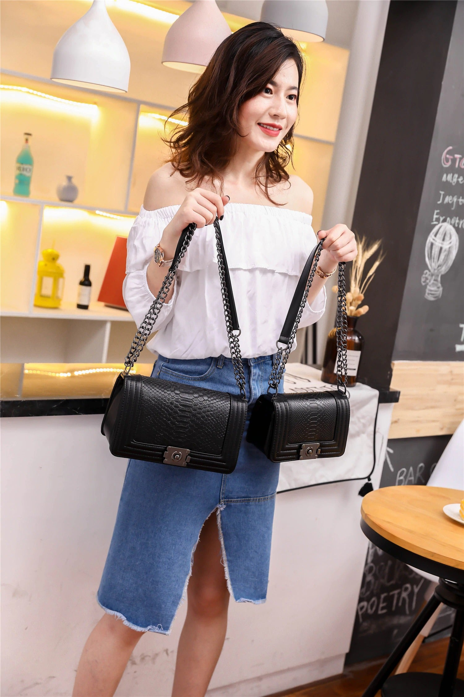 Designer Inspired Flap Shoulder Crossbody Bag