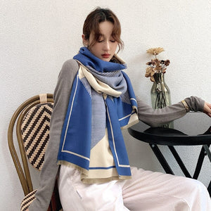 2020 Winter Scarf Striped Shawl Bufanda Print Scarf