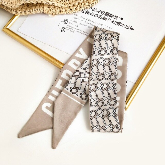 Korean-Style Fashion Small Silk Ribbon Scarf