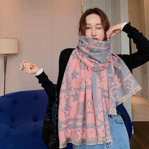 2020 New Luxury Pashmina Geometric Design Wrap Shawl Scarf