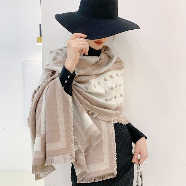 2020 Luxury Winter C Pattern Pashmina Shawls Scarf