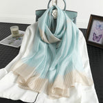 2020 Luxury Stripe Pashmina Wraps Silk Scarf