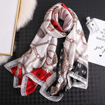 2021 Luxury Brand Silk Wrap Shawl Scarf